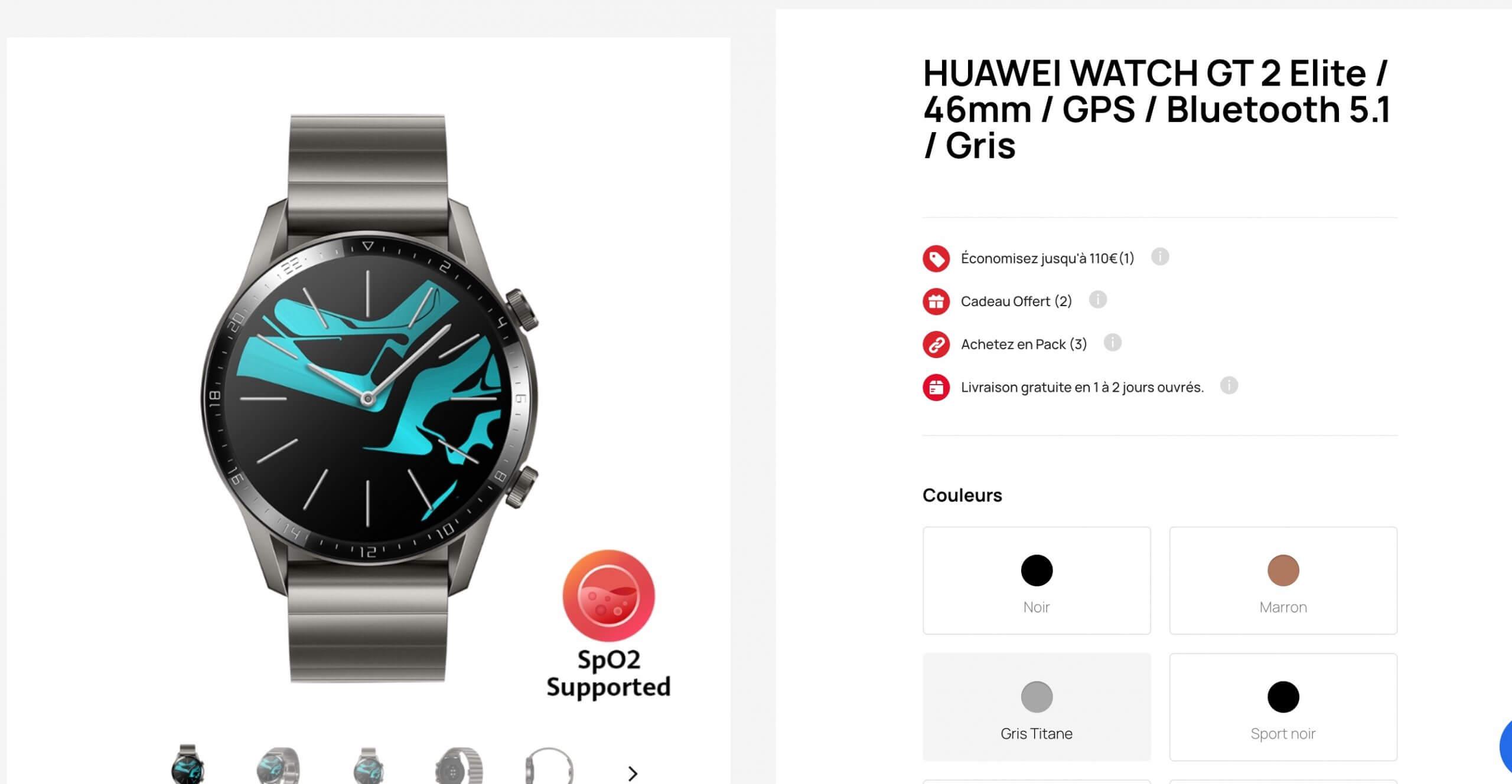 Huaweigt2 46mm, la montre connectée de Huawei